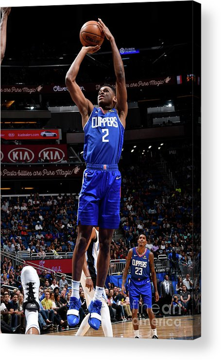 Nba Pro Basketball Acrylic Print featuring the photograph La Clippers V Orlando Magic by Fernando Medina