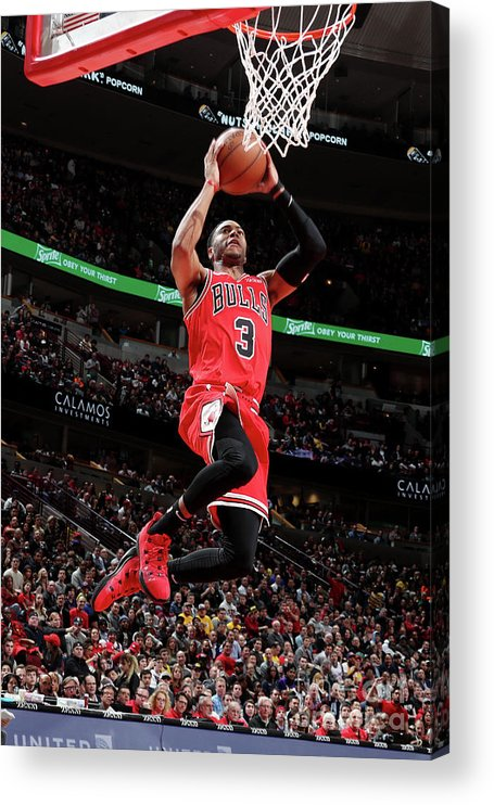 Nba Pro Basketball Acrylic Print featuring the photograph Los Angeles Lakers V Chicago Bulls by Nathaniel S. Butler