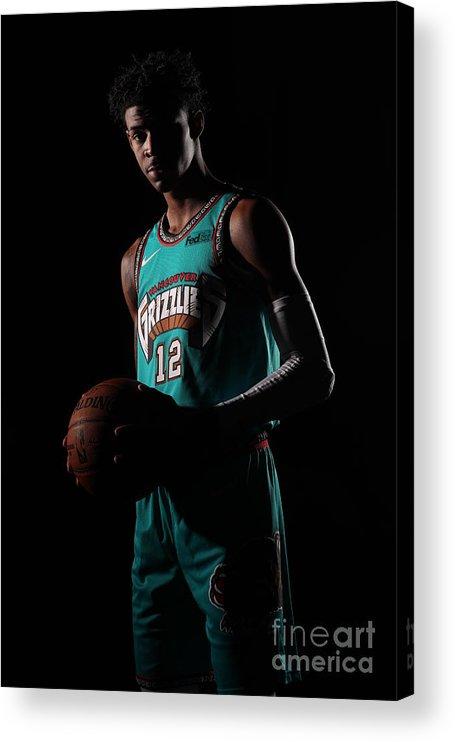 Nba Pro Basketball Acrylic Print featuring the photograph Memphis Grizzlies Portrait Shoot In by Joe Murphy