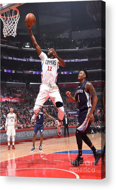 Nba Pro Basketball Acrylic Print featuring the photograph Memphis Grizzlies V Los Angeles Clippers by Andrew D. Bernstein