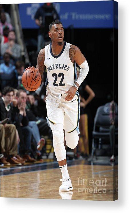 Nba Pro Basketball Acrylic Print featuring the photograph Milwaukee Bucks V Memphis Grizzlies by Joe Murphy