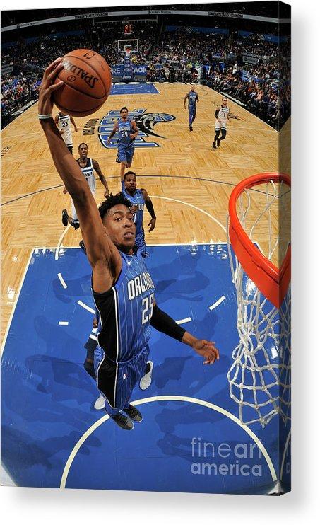 Nba Pro Basketball Acrylic Print featuring the photograph Minnesota Timberwolves V Orlando Magic by Fernando Medina
