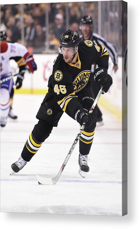 National Hockey League Acrylic Print featuring the photograph Montreal Canadiens V Boston Bruins by Brian Babineau