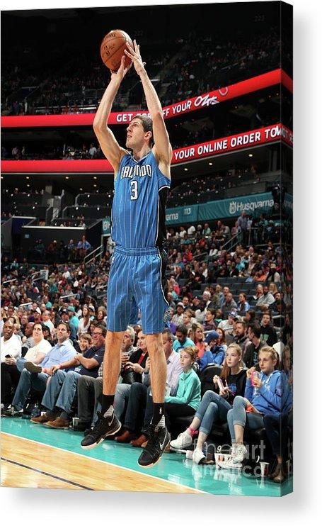Nba Pro Basketball Acrylic Print featuring the photograph Orlando Magic V Charlotte Hornets by Kent Smith
