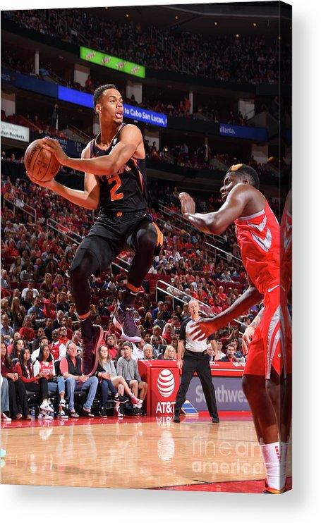 Nba Pro Basketball Acrylic Print featuring the photograph Phoenix Suns V Houston Rockets by Bill Baptist