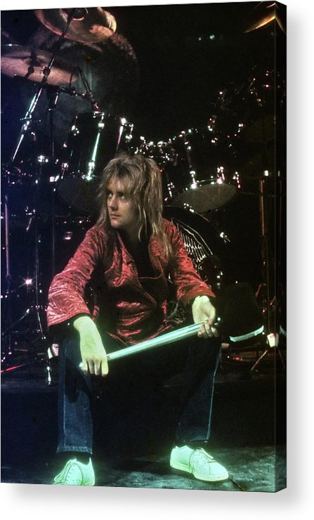 People Acrylic Print featuring the photograph Roger Taylor by Michael Ochs Archives