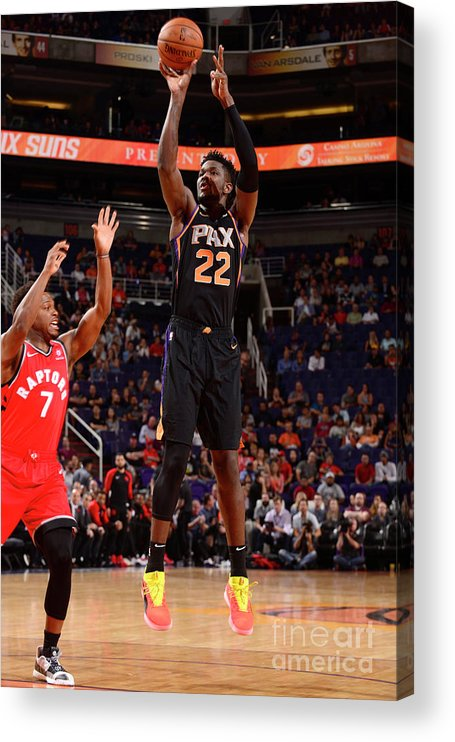 Nba Pro Basketball Acrylic Print featuring the photograph Toronto Raptors V Phoenix Suns by Barry Gossage