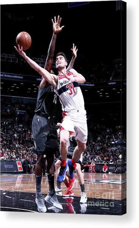 Nba Pro Basketball Acrylic Print featuring the photograph Washington Wizards V Brooklyn Nets by Nathaniel S. Butler