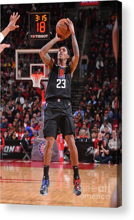 Nba Pro Basketball Acrylic Print featuring the photograph La Clippers V Houston Rockets by Bill Baptist
