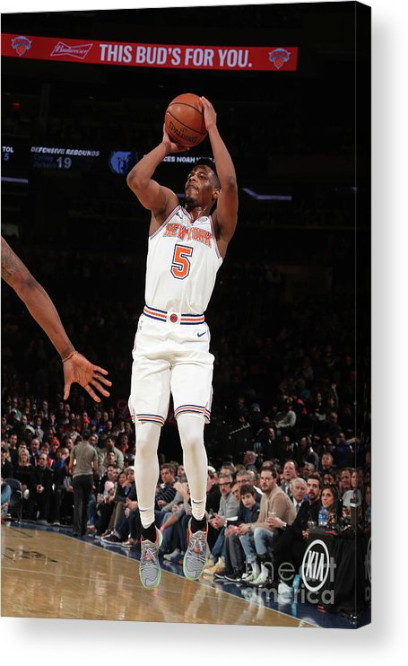 Nba Pro Basketball Acrylic Print featuring the photograph Memphis Grizzlies V New York Knicks by Nathaniel S. Butler