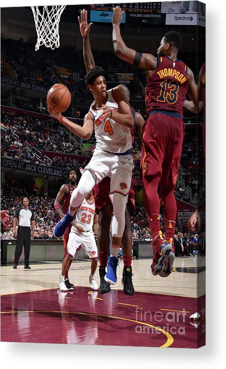 Nba Pro Basketball Acrylic Print featuring the photograph New York Knicks V Cleveland Cavaliers by David Liam Kyle