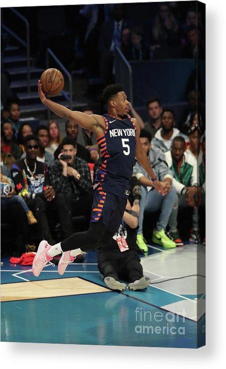 Nba Pro Basketball Acrylic Print featuring the photograph 2019 At&t Slam Dunk Contest by Joe Murphy