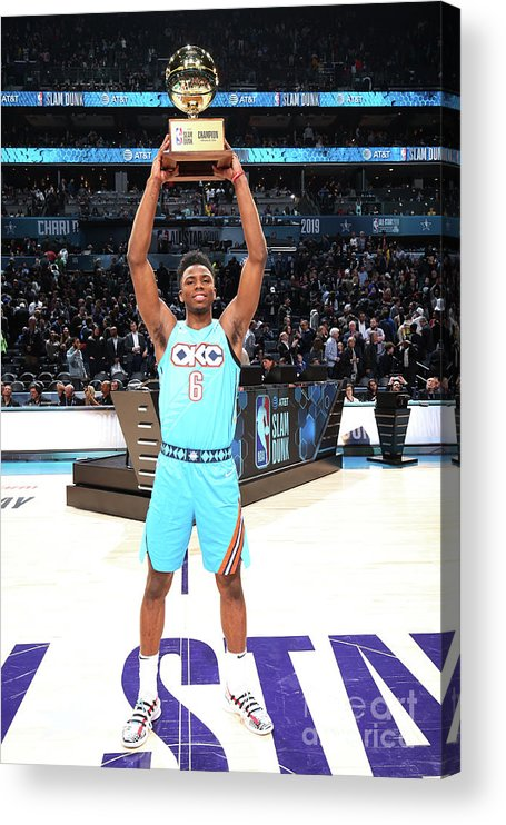 Nba Pro Basketball Acrylic Print featuring the photograph 2019 At&t Slam Dunk Contest by Nathaniel S. Butler