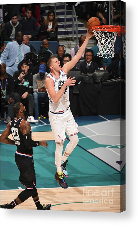 Nba Pro Basketball Acrylic Print featuring the photograph 2019 Nba All-star Game by Garrett Ellwood