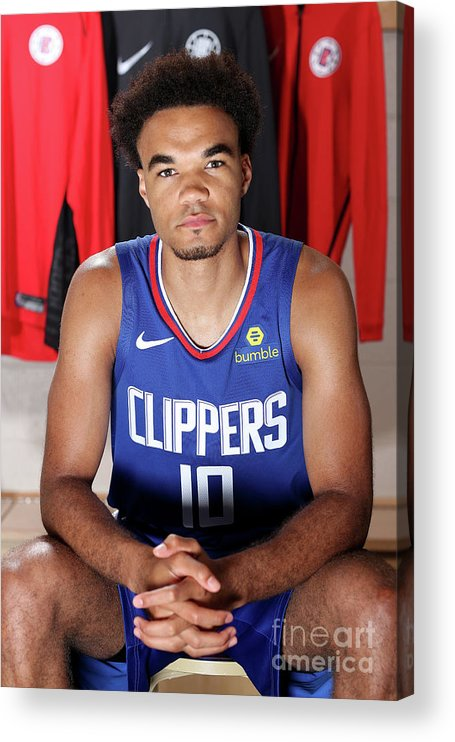Jerome Robinson Acrylic Print featuring the photograph 2018 Nba Rookie Photo Shoot by Nathaniel S. Butler