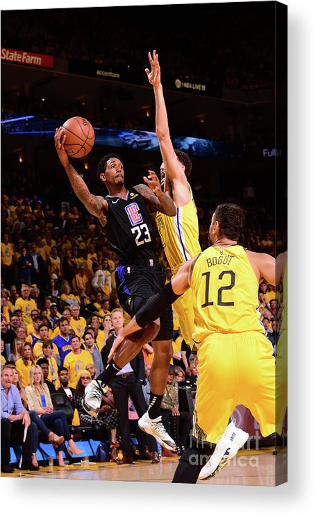 Playoffs Acrylic Print featuring the photograph La Clippers V Golden State Warriors - by Noah Graham