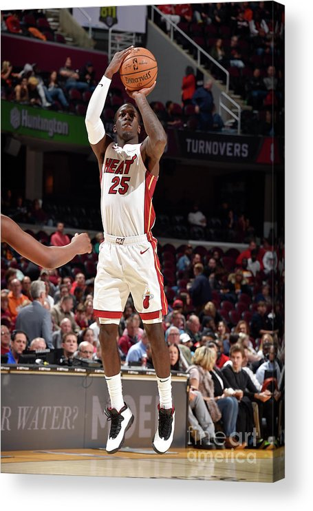 Nba Pro Basketball Acrylic Print featuring the photograph Miami Heat V Cleveland Cavaliers by David Liam Kyle