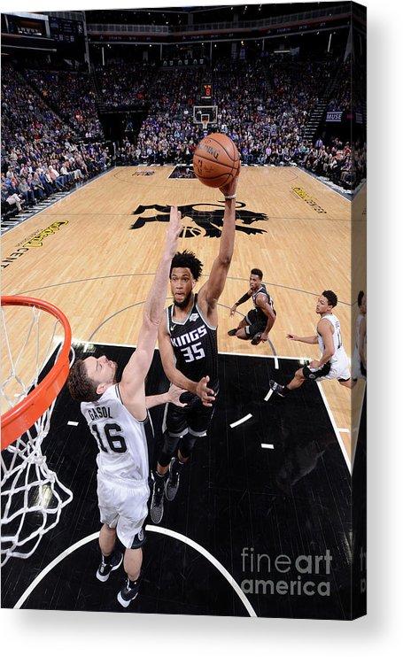 Nba Pro Basketball Acrylic Print featuring the photograph San Antonio Spurs V Sacramento Kings by Rocky Widner