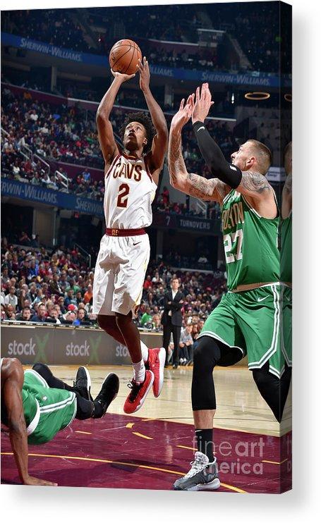 Nba Pro Basketball Acrylic Print featuring the photograph Boston Celtics V Cleveland Cavaliers by David Liam Kyle