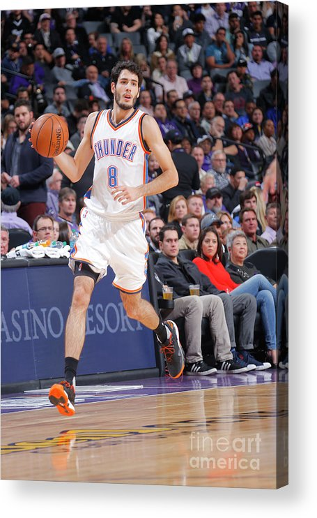 Nba Pro Basketball Acrylic Print featuring the photograph Oklahoma City Thunder V Sacramento Kings by Rocky Widner