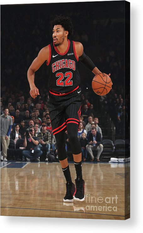 Chicago Bulls Acrylic Print featuring the photograph Chicago Bulls V New York Knicks by Nathaniel S. Butler