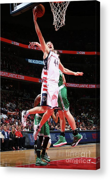 Playoffs Acrylic Print featuring the photograph Boston Celtics V Washington Wizards - by Ned Dishman