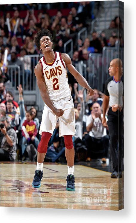Nba Pro Basketball Acrylic Print featuring the photograph Atlanta Hawks V Cleveland Cavaliers by David Liam Kyle