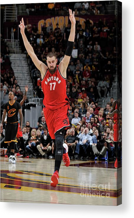 Nba Pro Basketball Acrylic Print featuring the photograph Toronto Raptors V Cleveland Cavaliers by David Liam Kyle