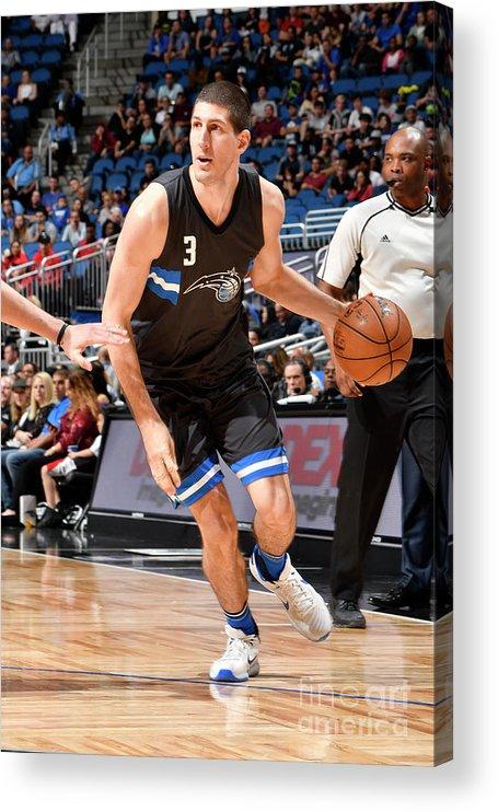 Nba Pro Basketball Acrylic Print featuring the photograph Atlanta Hawks V Orlando Magic by Fernando Medina