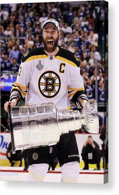 Playoffs Acrylic Print featuring the photograph Boston Bruins V Vancouver Canucks - by Bruce Bennett