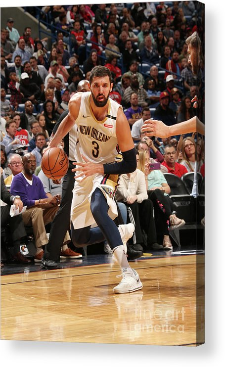 Smoothie King Center Acrylic Print featuring the photograph Dallas Mavericks V New Orleans Pelicans by Layne Murdoch