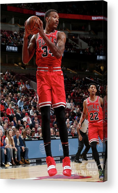 Nba Pro Basketball Acrylic Print featuring the photograph Denver Nuggets V Chicago Bulls by Gary Dineen