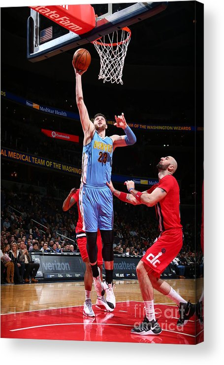 Jusuf Nurkić Acrylic Print featuring the photograph Denver Nuggets V Washington Wizards by Ned Dishman