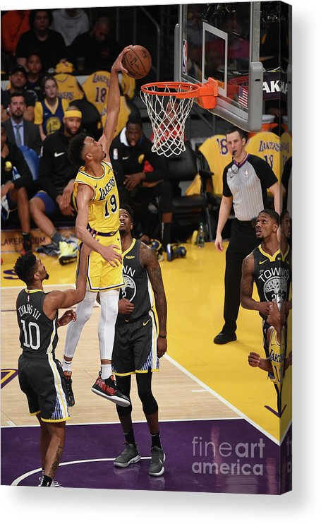 Nba Pro Basketball Acrylic Print featuring the photograph Golden State Warriors V Los Angeles by Adam Pantozzi