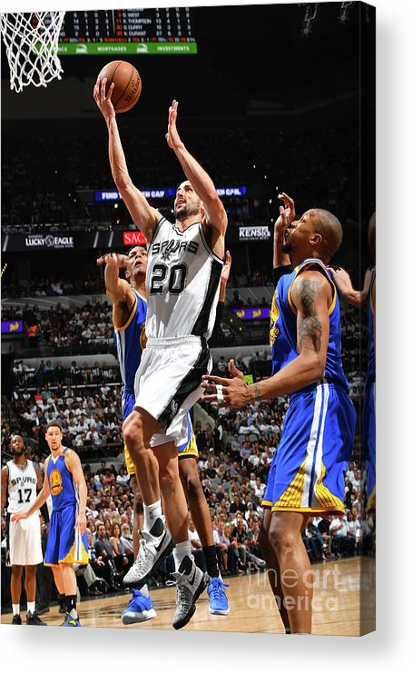 Playoffs Acrylic Print featuring the photograph Golden State Warriors V San Antonio by Jesse D. Garrabrant