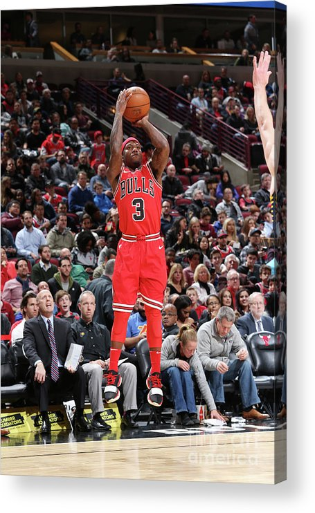 Nba Pro Basketball Acrylic Print featuring the photograph Indiana Pacers V Chicago Bulls by Gary Dineen