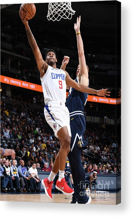 Nba Pro Basketball Acrylic Print featuring the photograph La Clippers V Denver Nuggets by Garrett Ellwood