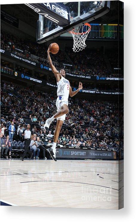 Nba Pro Basketball Acrylic Print featuring the photograph Los Angeles Clippers V Utah Jazz by Melissa Majchrzak