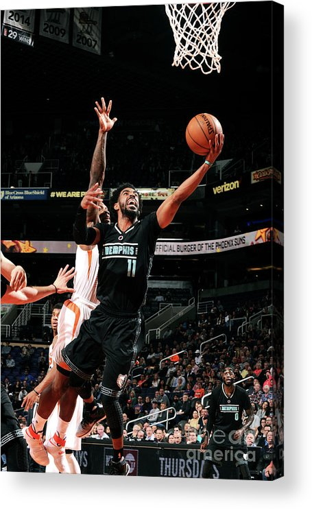 Nba Pro Basketball Acrylic Print featuring the photograph Memphis Grizzlies V Phoenix Suns by Michael Gonzales