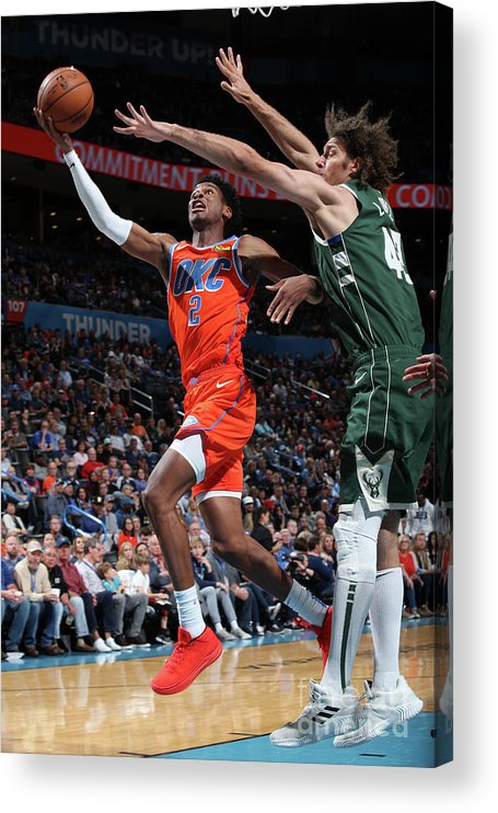 Nba Pro Basketball Acrylic Print featuring the photograph Milwaukee Bucks V Oklahoma City Thunder by Zach Beeker