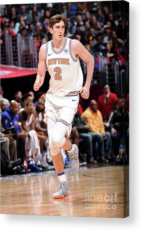Nba Pro Basketball Acrylic Print featuring the photograph New York Knicks V La Clippers by Andrew D. Bernstein