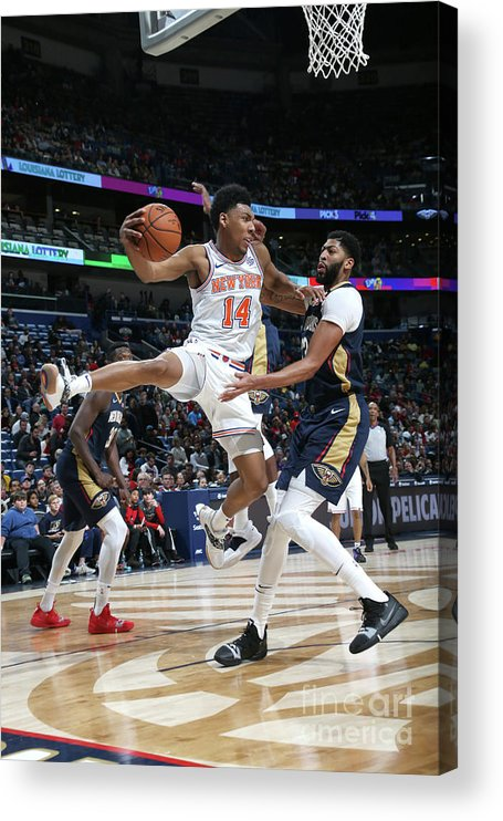 Smoothie King Center Acrylic Print featuring the photograph New York Knicks V New Orleans Pelicans by Layne Murdoch Jr.