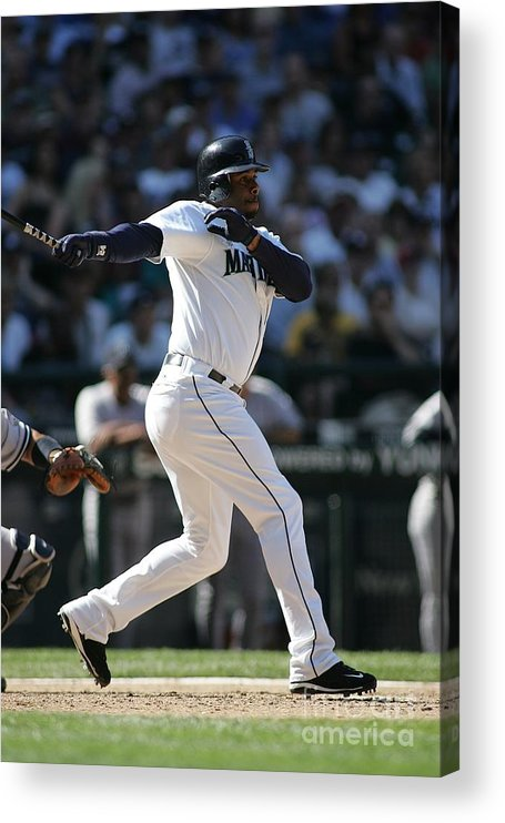 People Acrylic Print featuring the photograph New York Yankees V Seattle Mariners by Rob Leiter
