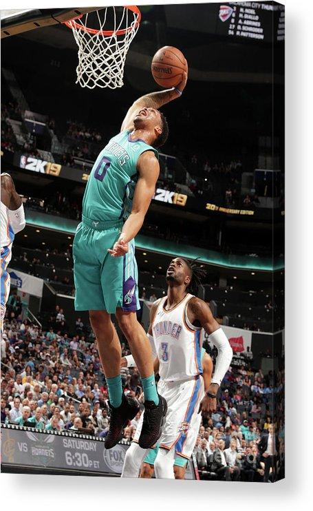 Nba Pro Basketball Acrylic Print featuring the photograph Oklahoma City Thunder V Charlotte by Kent Smith