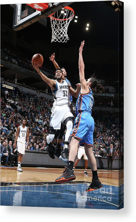 Nba Pro Basketball Acrylic Print featuring the photograph Oklahoma City Thunder V Minnesota by David Sherman