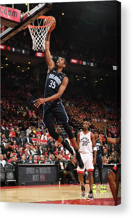 Playoffs Acrylic Print featuring the photograph Orlando Magic V Toronto Raptors - Game by Ron Turenne