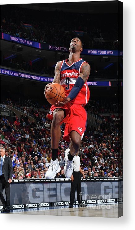 Nba Pro Basketball Acrylic Print featuring the photograph Philadelphia 76ers V Washington Wizards by Jesse D. Garrabrant