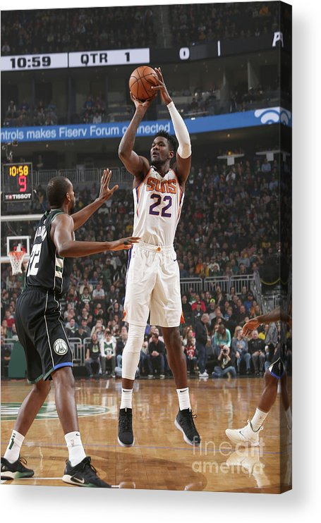 Nba Pro Basketball Acrylic Print featuring the photograph Phoenix Suns V Milwaukee Bucks by Gary Dineen