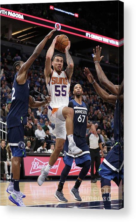 Nba Pro Basketball Acrylic Print featuring the photograph Phoenix Suns V Minnesota Timberwolves by Jordan Johnson