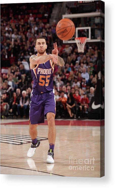 Nba Pro Basketball Acrylic Print featuring the photograph Phoenix Suns V Portland Trail Blazers by Cameron Browne